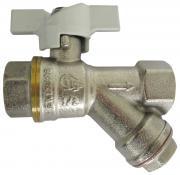 Кран шаровой с Y-образным фильтром STC-Faro 1220 DN 20 PN 30