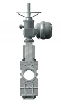 Задвижка шиберная стальная Tecofi VG6400-04EP под электропривод DN 400 PN 10