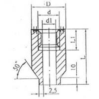 Бобышка для монтажа БП1 прямая L,mm 55