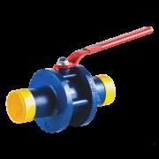 Кран шаровой стальной стандартнопроходной 11с67п под приварку DN 100/80 PN 16
