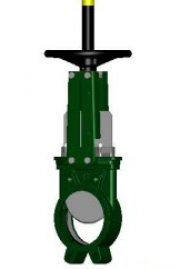 Задвижка шиберная чугунная Tecofi VG3400-00NI DN 125 PN 10