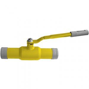 Кран шаровой стальной стандартнопроходной 11с67п DN 125 PN 25 под приварку газовый