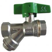 Кран шаровой Y-образный с фильтром STC-Uno+ 1783 DN 15 PN 30