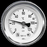 Термометр биметаллический ТБП-Т200 Дк 63 Дш 100