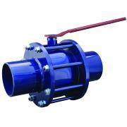 Кран шаровой стальной полнопроходной 11с67п под приварку DN 150 PN 16