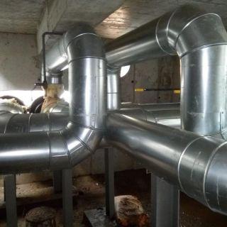 Теплоизоляция труб теплотрассы в тепловой камере