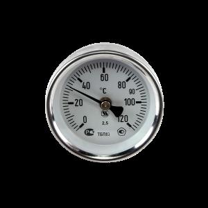 Термометр накладной биметаллический на пружине ТБП63/ТР120 Дк 63 Дт 30