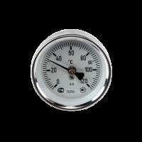Термометр накладной биметаллический на скобе ТБП63/ТР120 Дк63 Дт38
