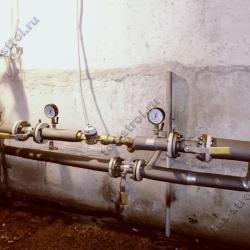 Смонтированный узел учета холодного водоснабжения (Ново-Переделкино, ул. 6-я Лазенки, 29)