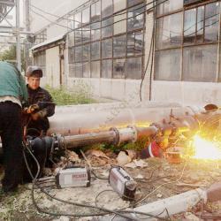 Производство сварочных работ при монтаже узла учета тепловой энергии (ЗАО МОСМЕК, г. Видное)